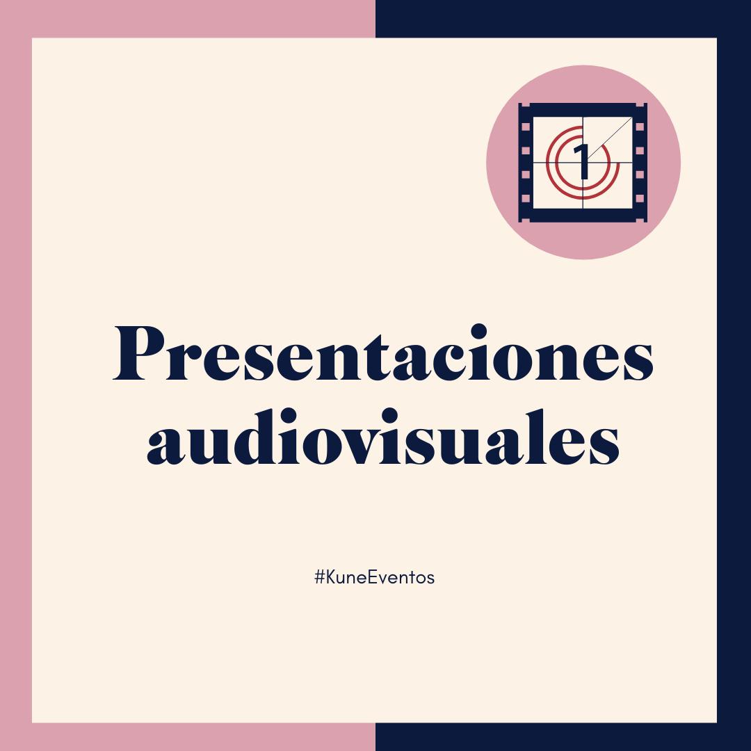 Presentación de cine y audiovisual